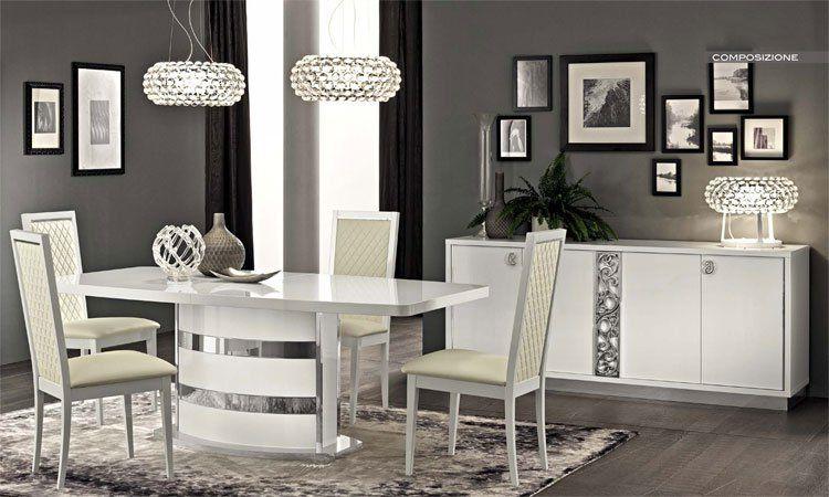 Luxus Wohnzimmer Weiss : Luxus wohnzimmer roma weiß modernes design stilmöbel aus