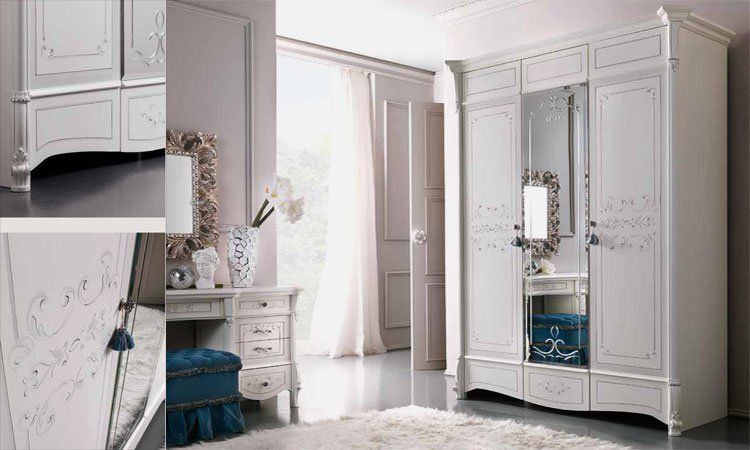 schlafzimmer casa verdi in blattsilber. Black Bedroom Furniture Sets. Home Design Ideas