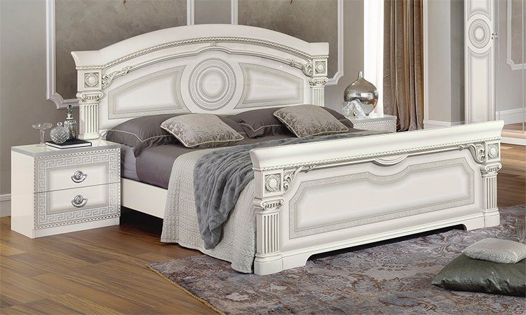 klassisches schlafzimmer aida bett schrank nachttische stilm bel italien design ebay. Black Bedroom Furniture Sets. Home Design Ideas