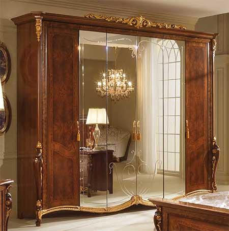 Klassische kommode vier schubladen nussbaum farbe gold - Mobel block schlafzimmer ...