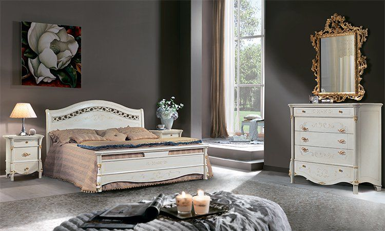 Schlafzimmer Diamante Laccato-Gold Komp.2