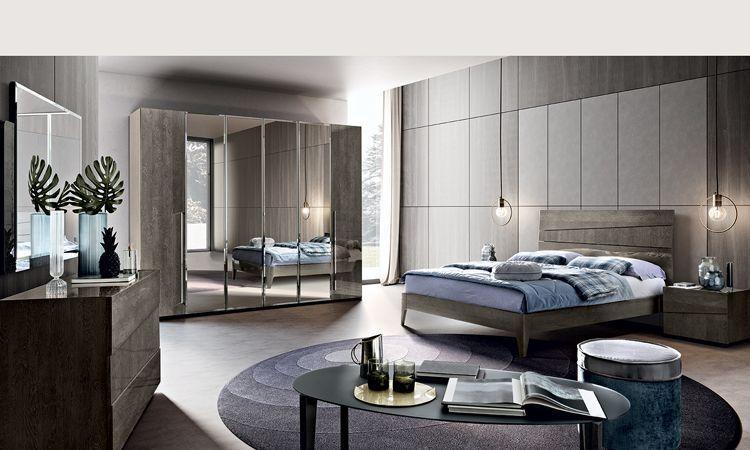 Schlafzimmer Tekno Grau Hochglanz