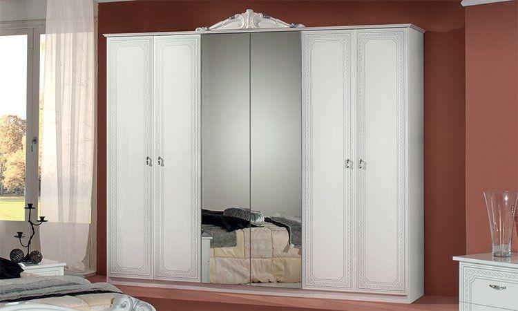 Schlafzimmer komplett set wei hochglanz klassik stil - Hochglanz schlafzimmer italien ...