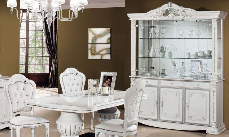 luxus wohnzimmer set prestige wei silber dekor klassische stilm bel italien ebay. Black Bedroom Furniture Sets. Home Design Ideas