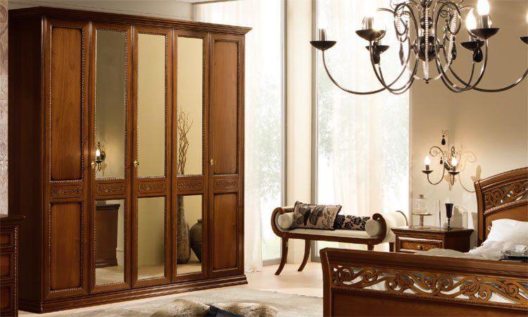 luxus komplett schlafzimmer set torriani nussbaum klassische stilm bel italien ebay. Black Bedroom Furniture Sets. Home Design Ideas