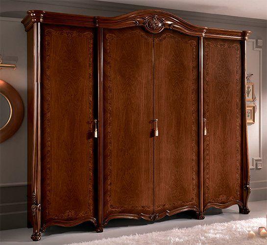 klassisches italienisches schlafzimmer in nussbaum farbe. Black Bedroom Furniture Sets. Home Design Ideas
