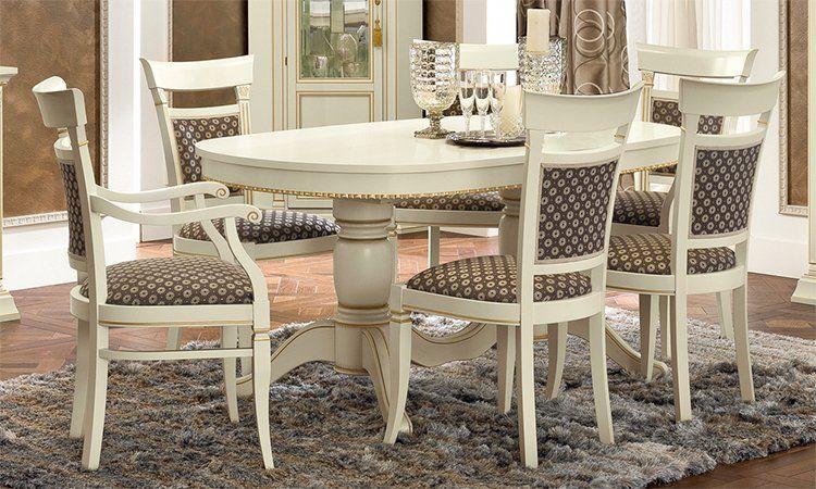 luxus esstisch rechteckig ausziehbar 160 230 cm klassische stilm bel italien ebay. Black Bedroom Furniture Sets. Home Design Ideas