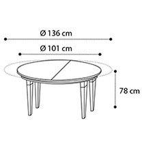 Esstisch rund ausziehbar