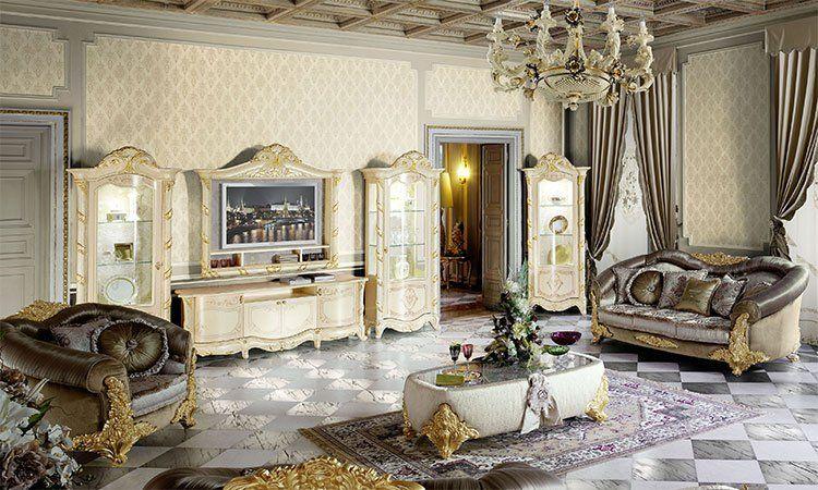 exklusives wohnzimmer madame royale. Black Bedroom Furniture Sets. Home Design Ideas