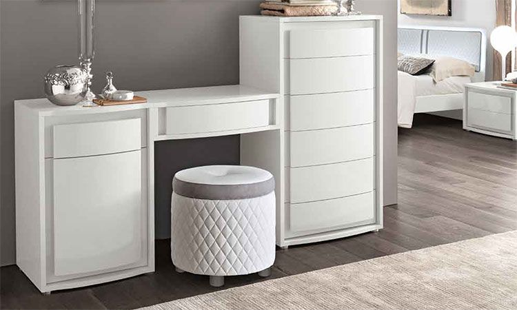 modernes elegantes komplett schlafzimmer wei hochglanz italienische stilmoebel ebay. Black Bedroom Furniture Sets. Home Design Ideas