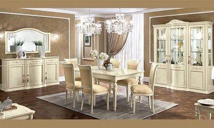 Italienische klassische Wohnzimmer. Esszimmer Hochglanz ...