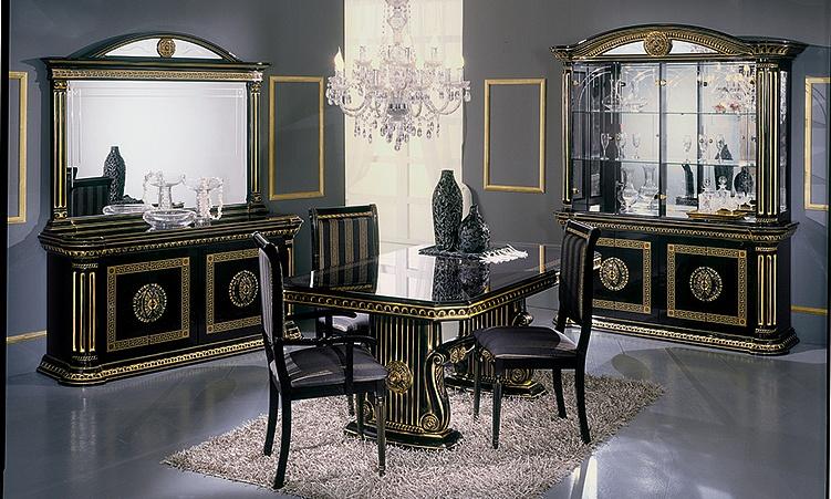 Wohnzimmer Esszimmer Rossella Schwarz Gold Komp.2. 15 Von 15 1 Von 15 ...