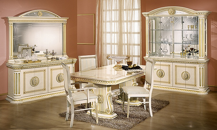 wohnzimmer esszimmer rossella beige gold komp 3. Black Bedroom Furniture Sets. Home Design Ideas