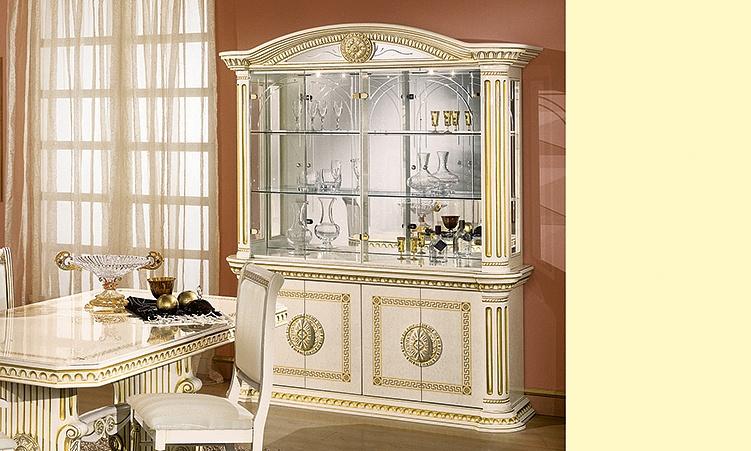 Wohnzimmer Esszimmer Rossella Beige-Gold Komp.3