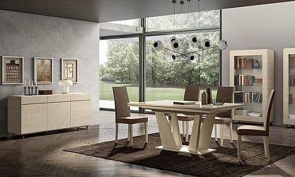 Wohnzimmer Esszimmer Perla Lärche Weiß   Modern