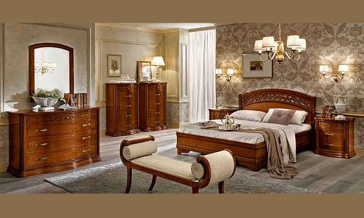 bett doppelbett futonbett 180x200 cm nussbaum italienische stilm bel ebay. Black Bedroom Furniture Sets. Home Design Ideas