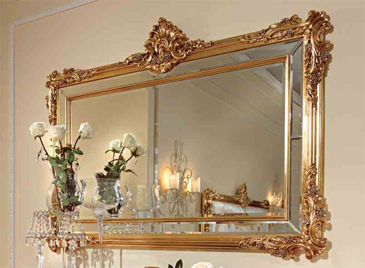 Luxus wandspiegel spiegel blattgold holz klassische italienische stilm bel ebay - Italienische designer wandspiegel ...