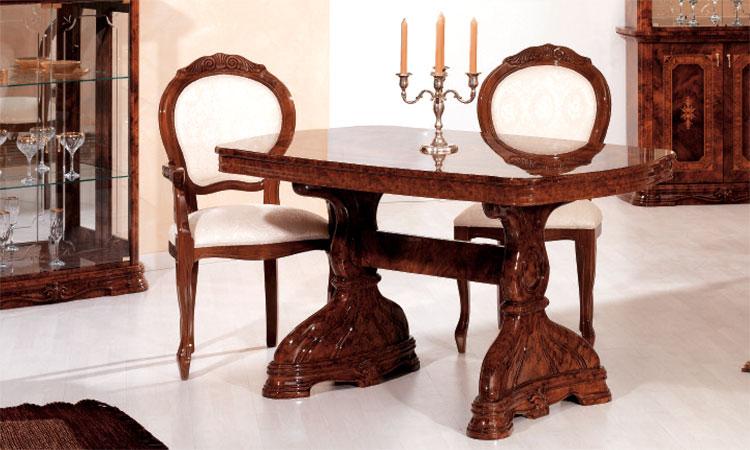 Esstisch Oval Ausziehbar Nussbaum Hochglanz Klassische Italienische