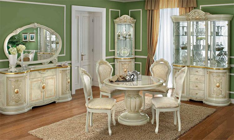 Exklusive eckvitrine 1 t rig glas gold dekor romantik luxus stilm bel italien ebay - Stilmobel italien ...