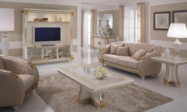 mediaschrank mediawand plasma tv schrank beige hochglanz stilm bel aus italien ebay. Black Bedroom Furniture Sets. Home Design Ideas