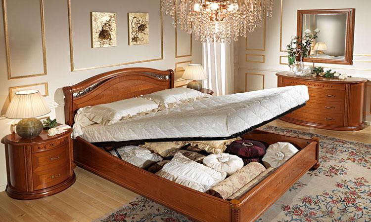 Klassisches Doppelbett 160x200 Kirschbaum Schlafzimmer Stilmöbel aus ...