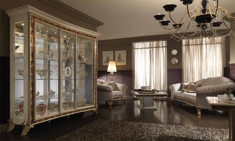 vitrine 3-tr wohnzimmer raffaello luxus stilmöbel italien arredo ... - Deutsches Wohnzimmer