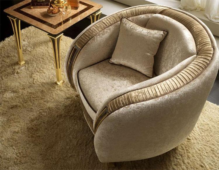 sofa couch 3 sitzer stoffbezug beige mit gold dekor klassische italienische stil ebay. Black Bedroom Furniture Sets. Home Design Ideas