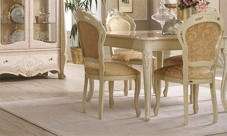 esstisch tisch quadratisch ausziehbar beige klassische stil m bel aus italien ebay. Black Bedroom Furniture Sets. Home Design Ideas